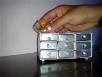 Inventando moda:  porta-jóias de caixa de fósforo