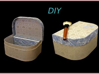Maletín de carton, organizador maquillaje, costurero. DIY