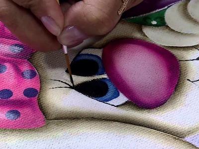 Mulher.com 06.03.2015 Pintura em tecido coelho por Lilinha Silva Parte 2
