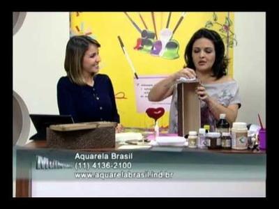 Mulher.com 13.07.2012 - Marisa Magalhães - Caixa de vinho com papel textura 02