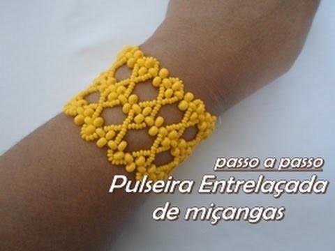NM Bijoux - Pulseira Entrelaçada de Miçangas