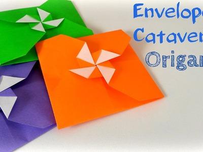Passo a passo Envelope Catavento Origami