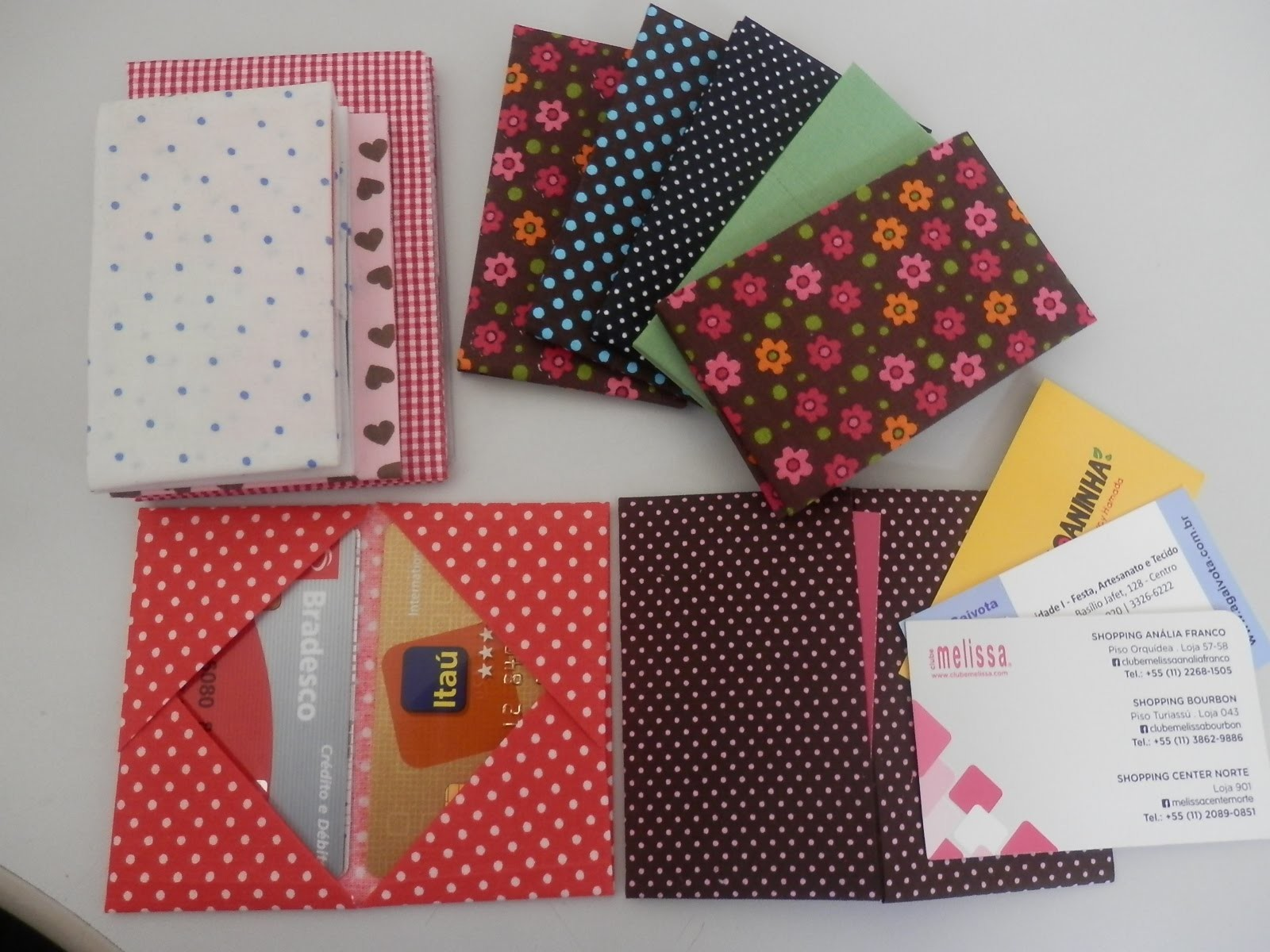 Porta cartões 1 - Origami. Orinuno