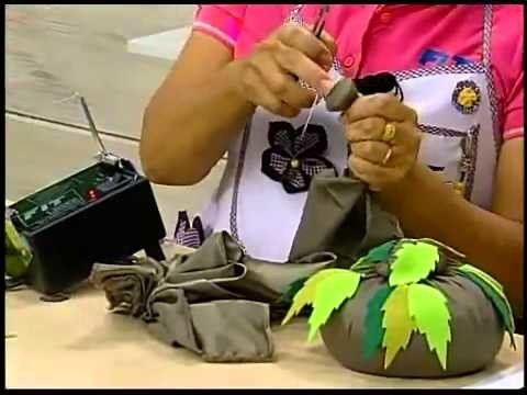 Programa Arte Brasil - 20.02.2014 - Peso de Porta com Flor Japonesa - Yvone Lobato