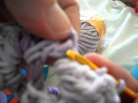 Quadrado de crochet para fazer  tapete de barbante ,passo a passo. .