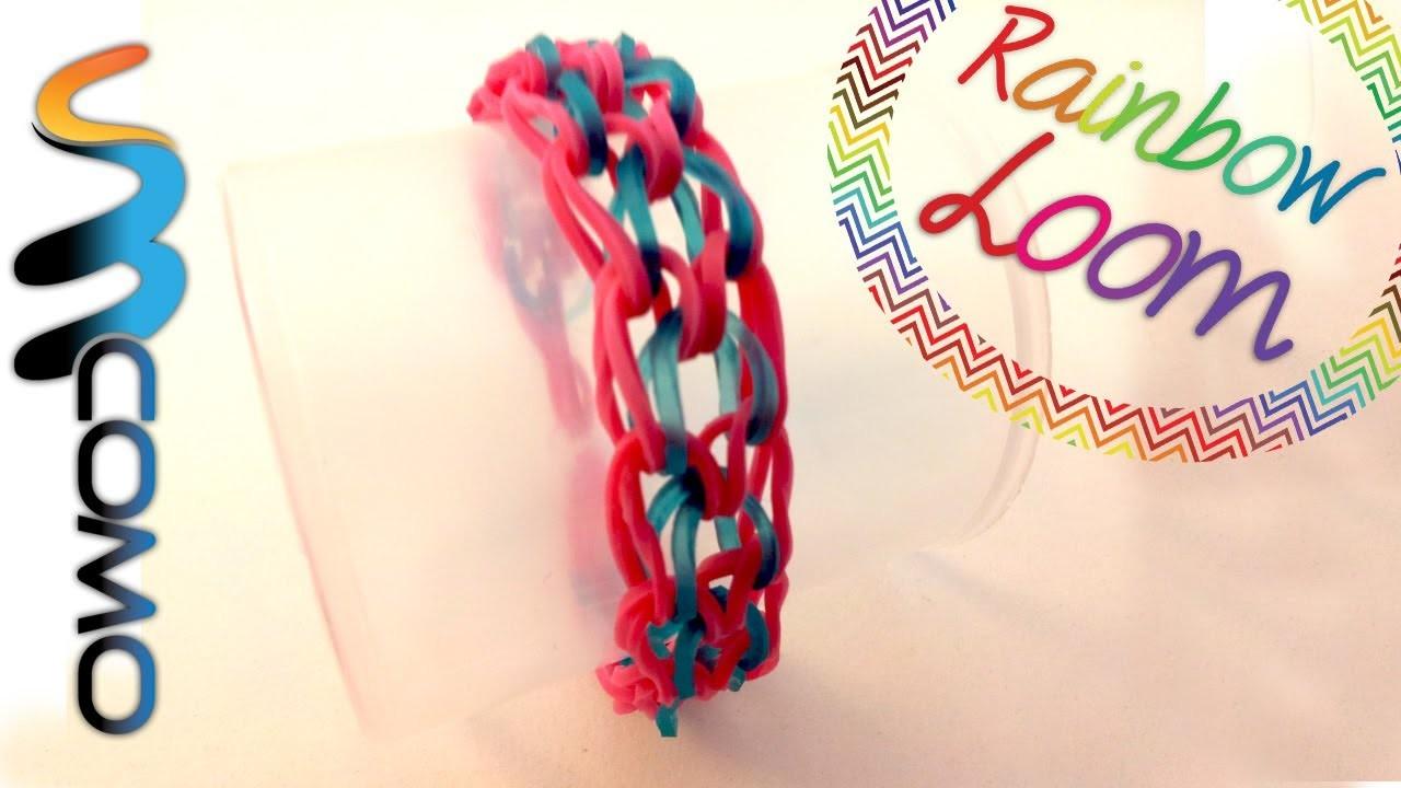 Rainbow Loom - Pulseira Escama de Dragão ( Com Um Garfo )
