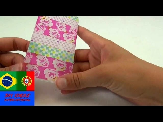 Como fazer uma capa para celular iPhone. como decorar capa de celular com washi tapes