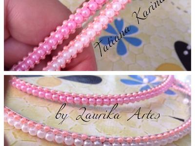 Dicas de montagem da tiara com cordão de pérola