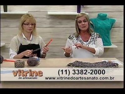 Mini Poncho com Marcia Bergantin - Vitrine do Artesanato na TV