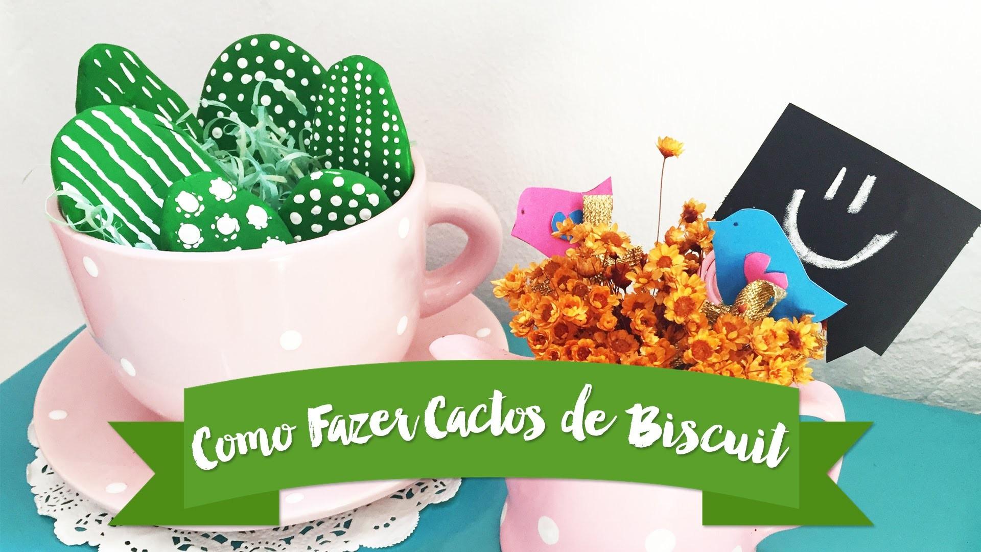 Como fazer mini cactos de biscuit super fofos {DIY}