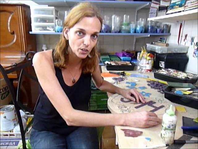 Como cortar pétalas e flores - Mosaico com azulejos
