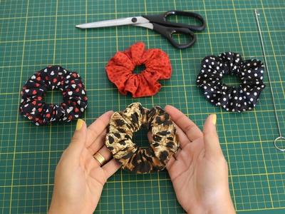 Como fazer uma Xuxinha - Prendedor de Cabelo - Scrunchie Tutorial