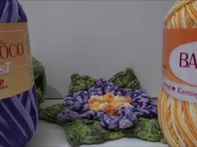 Flor em Crochê Violeta Barroco Fast