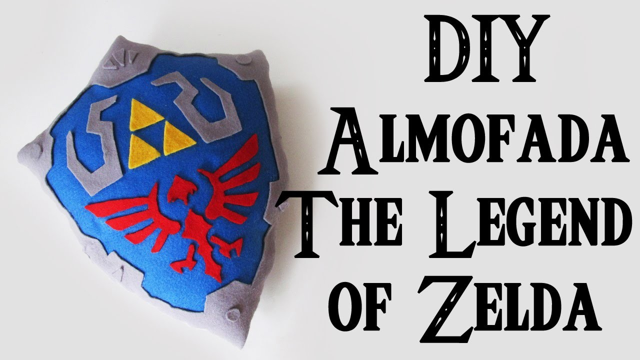 DIY: Almofada Escudo do Link - THE LEGEND OF ZELDA (Hylian Shield Pillow )
