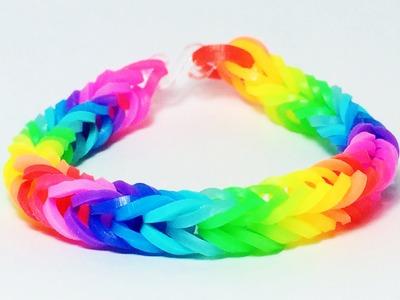 Pulseira de arco íris Intermediária- Como fazer com pregador