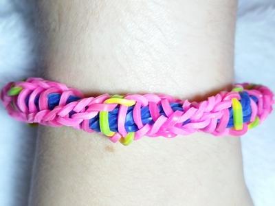 Rainbow Loom - Pulseira de Elástico - Loom Bands -Gomitas(TUTORIAL)