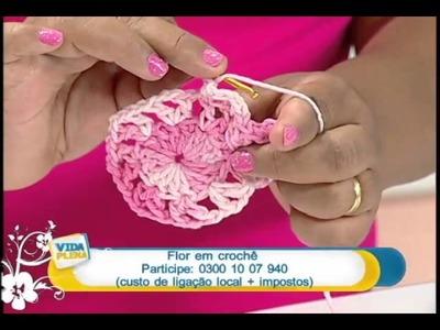 Artesanato - Flor em crochê