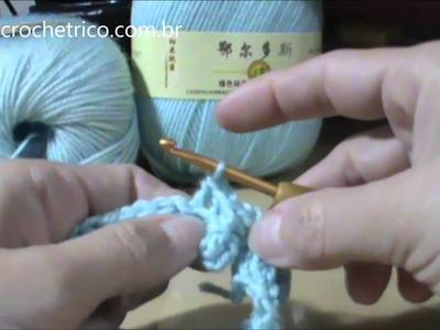 Crochê - Luvas em Ponto Escama - Parte 01.04