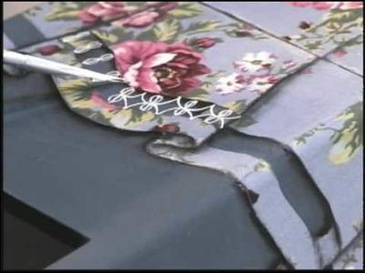 03.04.2010 - Pote com engomagem de tecido e renda
