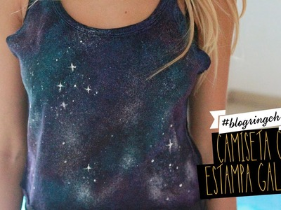 #blogringCH: Isa Scherer ensina a fazer uma camiseta com estampa galaxy