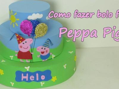 Bolo Fake Peppa Pig