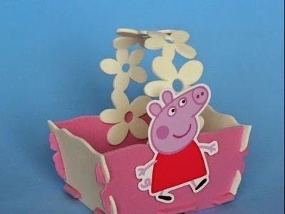 Centro de mesa Festa Infantil Peppa Pig