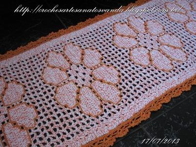 Como contornar desenhos em crochê filê - Artesanatos em Crochê Vanda