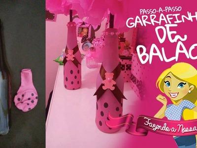 Como encapar garrafas com Balão - PAP - Fazendo a Nossa a Festa