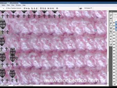 Como fazer Gráficos de Crochê com o Photoshop - Colete Pipoca