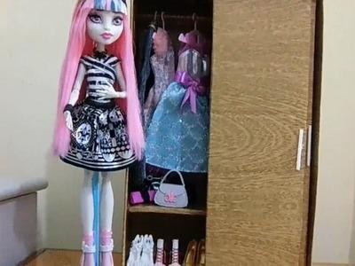 Como fazer guarda-roupa com porta de correr para boneca Monster High, Pullip, Barbie e etc