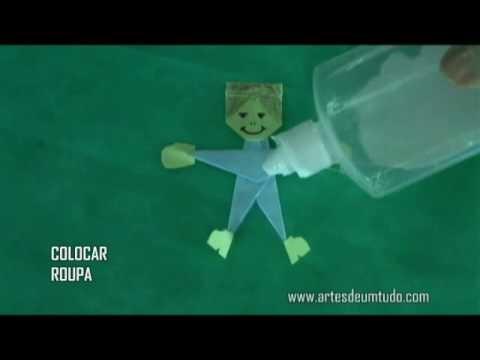 Como Fazer Origami de Menino e de Menina