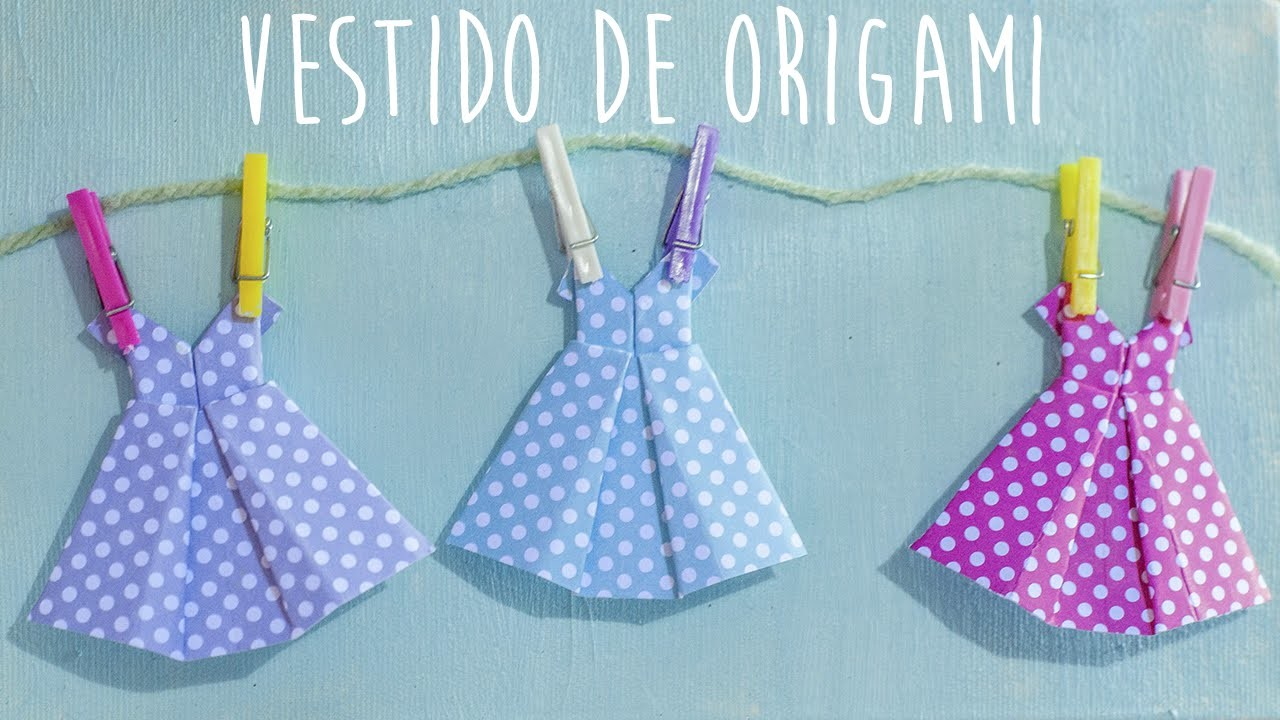 Como fazer vestido de origami - How to make an origami dress
