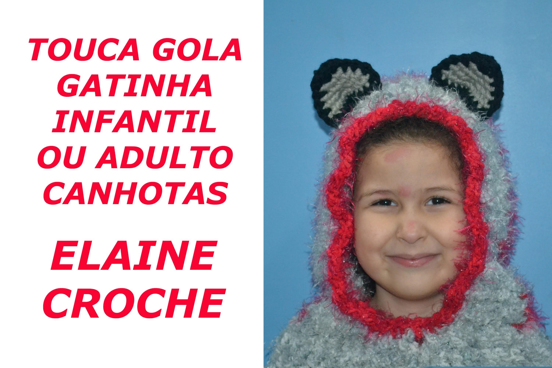 CROCHE PARA CANHOTOS - LEFT HANDED CROCHET- TOUCA GOLA GATINHA - INFANTIL E ADULTO - CANHOTAS