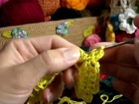 Crochet - Flor Amarela