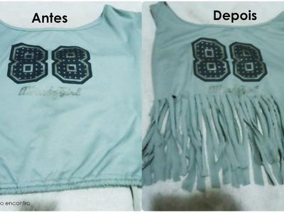 DIY! Aprenda a fazer: Blusa com franjas. Blog Primeiro Encontro