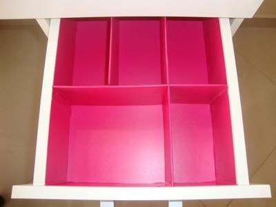 DIY | Divisórias para gaveta de makes