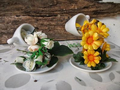 DIY: Faça voce mesma a sua cascata de flores na xícara ♥