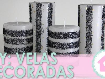 DIY: Vela Decorada c. Glitter - wFashionista