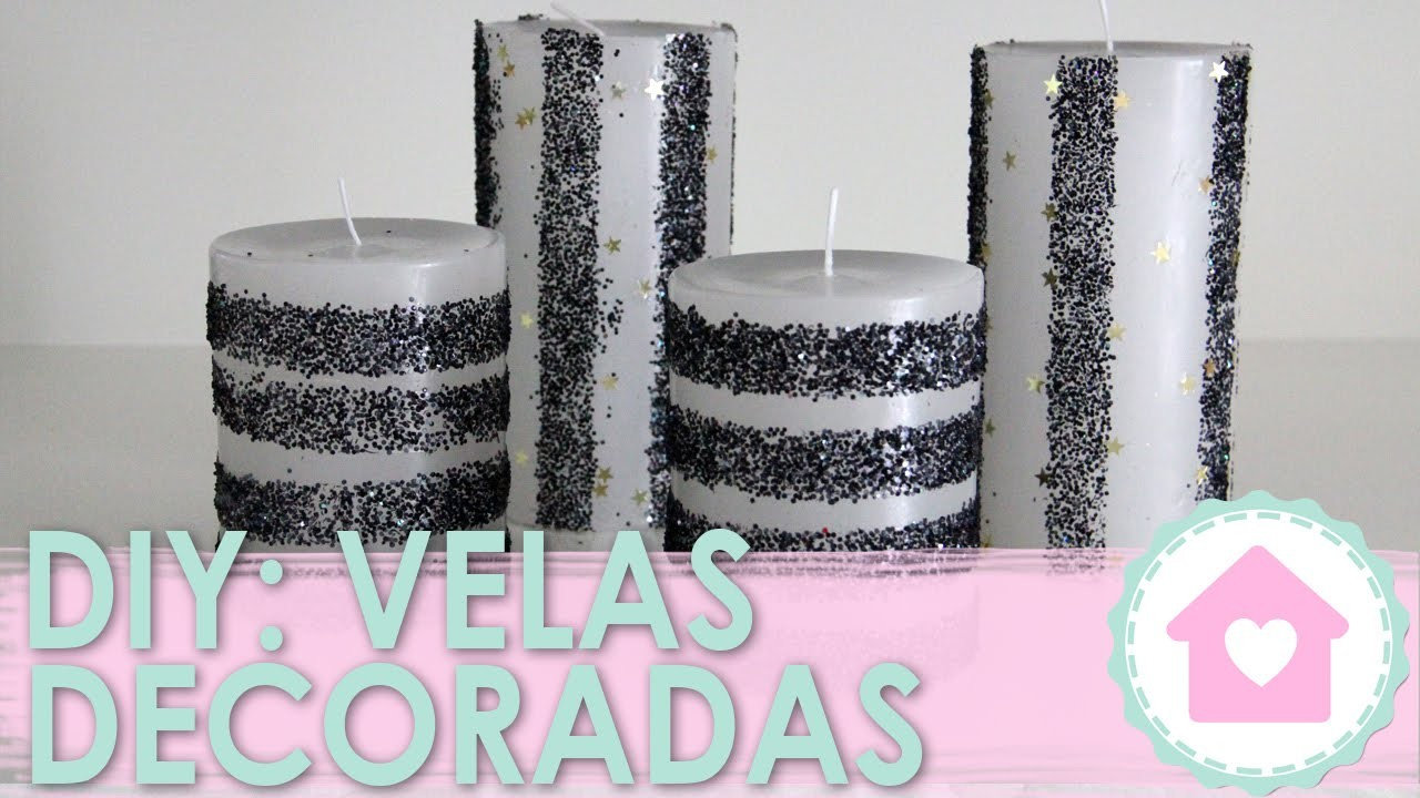 DIY: Vela Decorada c. Glitter - wFashionista