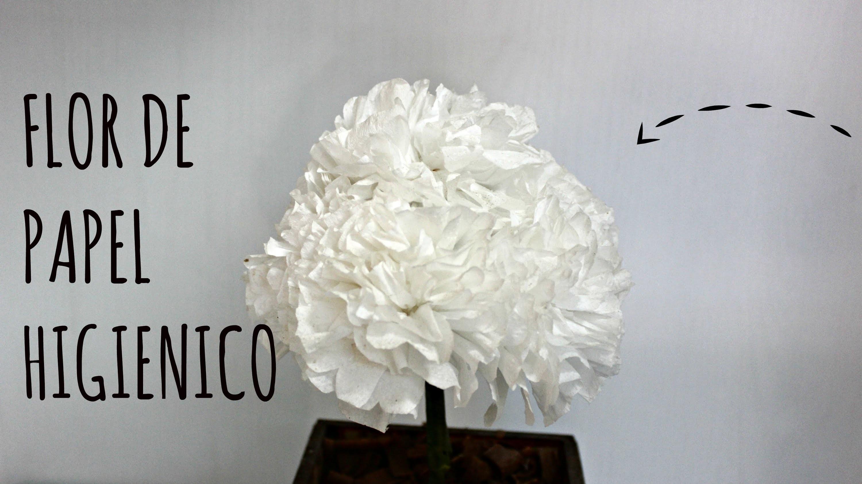Flor de PAPEL HIGIÊNICO - Passo a passo