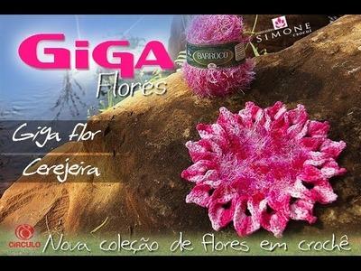 Giga Flor Cerejeira em Crochê - Professora Simone