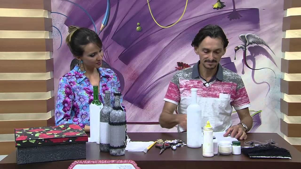 Mulher.com 23.09.2014 - Garrafa em Patch Decor por Ricardo Muraca - Parte 1