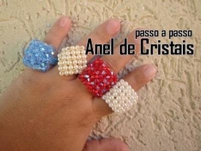 NM Bijoux - Anel de Cristais - passo a passo