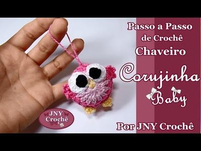 Passo a Passo de Crochê Chaveiro Corujinha Baby por JNY Crochê
