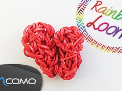 Rainbow Loom - Coração Dividido ao Meio