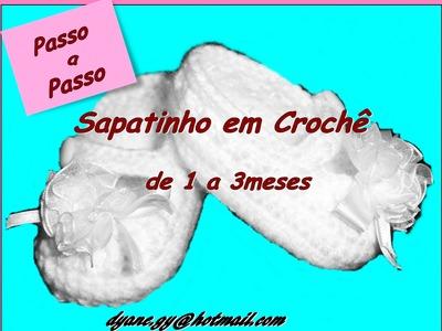 SAPATINHO DE BEBÊ EM CROCHÊ PASSO A PASSO parte II