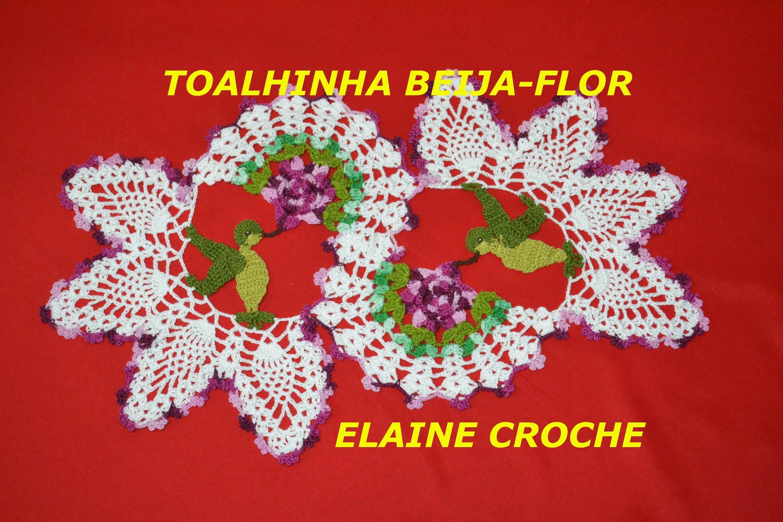 TOALHINHA BEIJA-FLOR EM CROCHÊ - 1ª PARTE