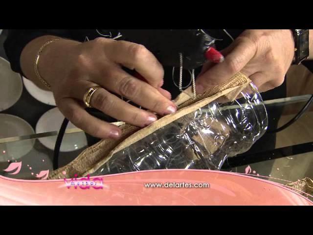 Veja como transformar uma garrafa pet em vaso decorativo!
