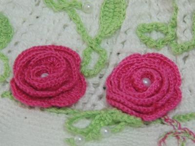 Flor em crochê - Flor de Crochê Básica