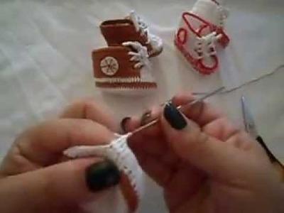 Como fazer ténis para bebe em croché-parte 3